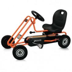 Go Kart Lightning - Orange - Kart cu pedale