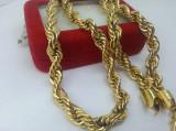 Lant masiv Barbati inox placat aur 24k Cod produs: LM 1