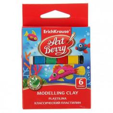 Plastilina modelatoare soft 6 culori, Artberry