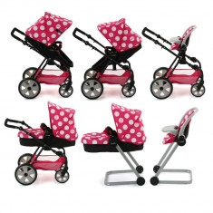 Set Carucior Papausi Icoo Grow With Me Dotty Pink - Papusa Hauck