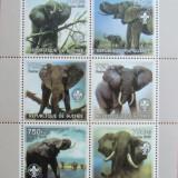 R. GUINEEA - ELEFANTI, 2002, 1 M/SH, NEOBLIT., - RG 6, Fauna