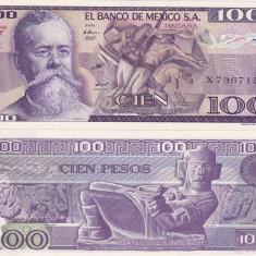MEXIC 100 pesos 25 martie 1982 - serie VF UNC!!! - bancnota america