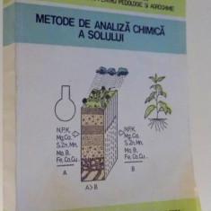 METODE DE ANALIZA CHIMICA A SOLULUI de ELENA STOICA...N. FLOREA, 1986 - Carte Chimie