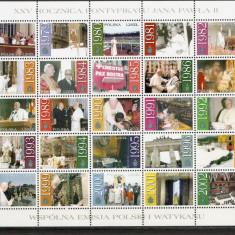 Polonia.2003 25 ani de pontificat Papa Ioan Paul II-coala mica  SP.776
