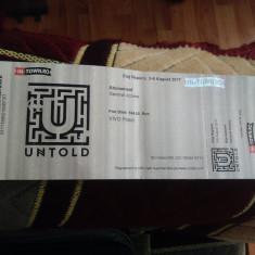 Bilet 4 zile untold - Bilet concert