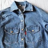 Camasa blugi dama ITALY marimea S/M / Camasa jeans dama ITALY / Camasa denim S/M - Camasa dama Denim Republic, Culoare: Din imagine