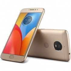Smartphone Motorola Moto E4 Plus Dual Sim, 5.5 Inch, Quad Core, 3 GB RAM, 32GB, Retea 4G, Android Nougat, Gold - Telefon Motorola
