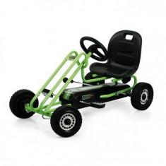 Go Kart Lightning - Race Green - Kart cu pedale