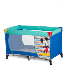 Pat Voiaj Dream'n Play Mickey Geo Blue - Patut pliant bebelusi Hauck