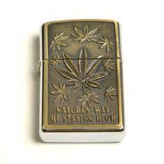 Bricheta model - Zippo - Natures Way Of Staying High - cannabis - Bricheta Zippo