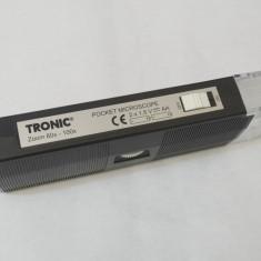 Microscop portabil Tronic 60x - 100x cu lumina - zoom - focus - baterii incluse