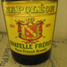 Brandy, NAPOLEON VSOP, CHATELLE FRERES, PRODUCE OF FRANCE CL75 gr 40 ani 1960/70 - Cognac