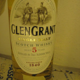Whisky GLEN GRANT, (A) SINGLE MALT, SCOTCH WHISKY, cl 70 GR 40 AGED 5 YEARS