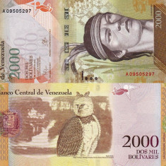 VENEZUELA 2.000 bolivares 18 august 2016 UNC!!!