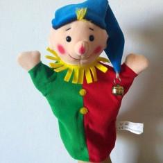 Marioneta teatru de papusi papusa manuala, clovn, claun, bufon