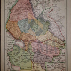 General C. Teodorescu - HARTA JUDETULUI MEHEDINTI, Brasov 1928