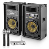 PA-Party Set '' Yellow Star 10'' | 800 W max. PA Sistem | auna microfon-cu-2-canale