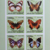 R. GUINEEA - FLUTURI, 2002, 1 M/SH, NEDANT., NEOBLIT., - RG 9, Fauna