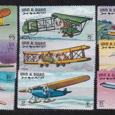Umm al Qiwain 1968 aviatie MI 296-304 MNH w45 - Timbre straine, Nestampilat