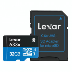 Card memorie Lexar High Performance 633X micro SD 32 GB Clasa 10 UHS-I