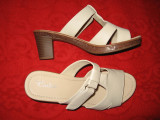 Sandale/ saboti piele noi Cadia Mar 40,5/ 41, Nude