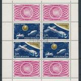 1975 LP 888 a-Zborul comun Apollo-Saiuz, Bloc stampilat - Timbre Romania, Nestampilat