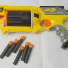 Pistol NERF Maverick REV-6 - cu magazie rotativa 6 cartuse - 6 cartuse incluse - Pistol de jucarie nerf, 6-8 ani, Plastic, Unisex