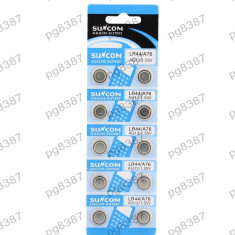 Baterie AG13, LR44, A76, alkalina, blister de 10 bucati - 111204