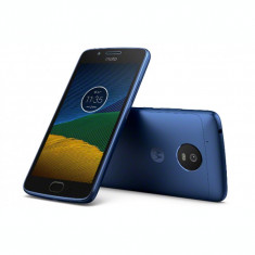 Smartphone Motorola Moto E4 Dual Sim, 5 Inch, Quad Core, 2 GB RAM, 16 GB, Retea 4G, Android Nougat, Albastru - Telefon Motorola