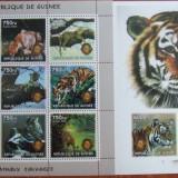 R. GUINEEA - TIGRI, 2002, 1 M/SH DANT. + 1 S/S, NEOBLIT., - RG 4, Fauna