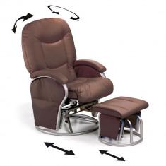 Fotoliu Balansoar - Metal Glider Recline - Maro - Set mobila copii