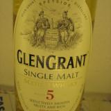 Whisky GLEN GRANT, (B) SINGLE MALT, SCOTCH WHISKY, cl 70 GR 40 AGED 5 YEARS