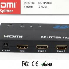 Spliter HDMI OEM AVS-44-2-BX 1 intrare 2 iesiri - Cablu PC