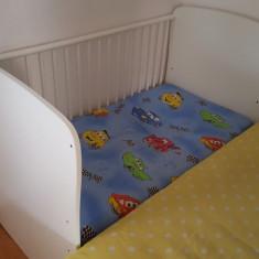 Pat bebelus - Patut lemn pentru bebelusi, Alte dimensiuni, Alb