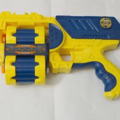 Pistol de tip NERF XCESS cu 2 magazii rotative pentru 12 cartuse - Pistol de jucarie nerf, 6-8 ani, Plastic, Unisex