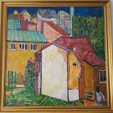 Ion Minoiu - Peisaj de la fereastra artistului - Pictor roman, Peisaje, Ulei, Altul