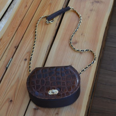 Geanta piele naturala / Geanta handmade piele posibil crocodil sau sarpe / LUX