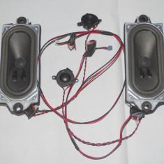 Set 2 difuzoare pentru TV LCD ovale 15W 8 ohmi + 2 tweetere 10W 8ohmi + fire - Boxa auto, 0-40W