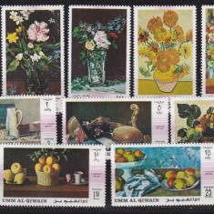 Umm al Qiwain 1968 pictura flori MI 275-284 MNH w45 - Timbre straine, Nestampilat