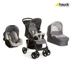 Set Carucior Shopper SLX Trioset Stone/Grey - Carucior copii 3 in 1 Hauck