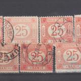 Romania 1896 Taxa de factagiu 7 valori Stampilate - Timbre Romania, Regi