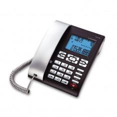 Telefon cu fir 6025 Concorde, LCD, Argintiu/Negru