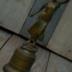 STATUETĂ PE SOCLU, VECHE DIN ANII 1900 - JUSTIȚIA / JUSTEȚEA - DIN BRONZ MASIV! - Metal/Fonta, Statuete