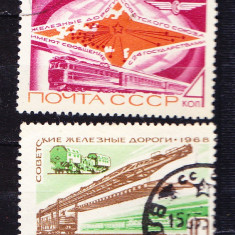 Timbre RUSIA 1968 = CAILE FERATE SOVIETICE - Timbre straine, Stampilat