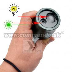 Lanterna vanatoare laser verde+sup. prindere+led puternic + zoom pusca