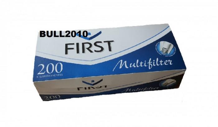 Tuburi FIRST CU CARBON ACTIV  200 tuburi tutun, filtre tigari multifilter foto mare