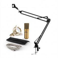 Auna MIC 900G microfon USB set microfon condensator V3 + microfon auriu