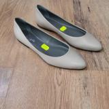 Pantofi-balerini dama noi piele integral crem foarte comozi 38