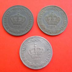 Lot 3 buc. 20 lei DIFERITE 1942, 1943, 1944 - Moneda Romania