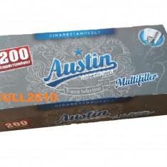 Tuburi AUSTIN CU CARBON ACTIV 200 tuburi tutun, filtre tigari multifilter - Foite tigari